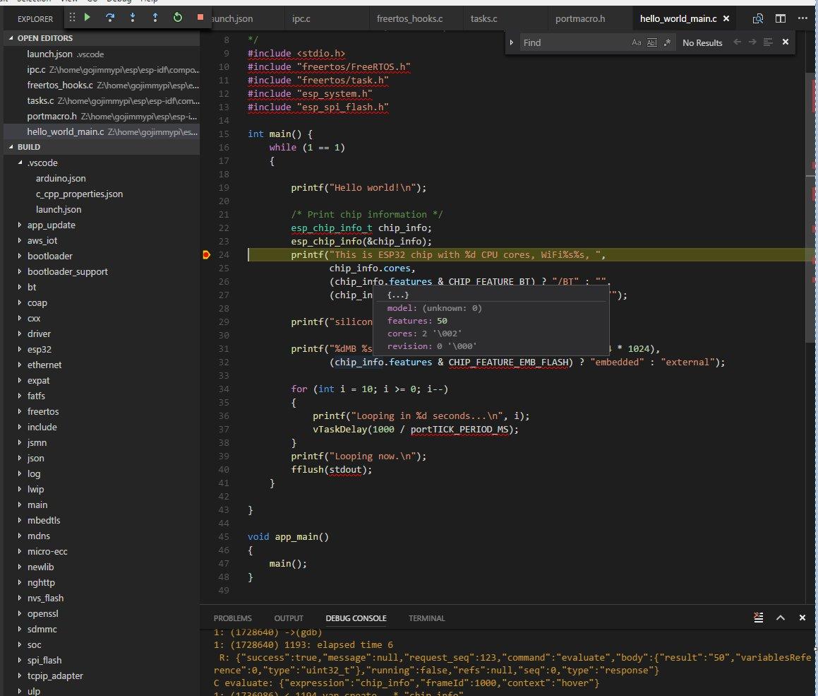 GoJimmyPi: VSCode JTAG Debugging of ESP32 - Part 2