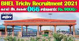 BHEL Trichy Recruitment 2021 66 Graduate Apprentice Posts