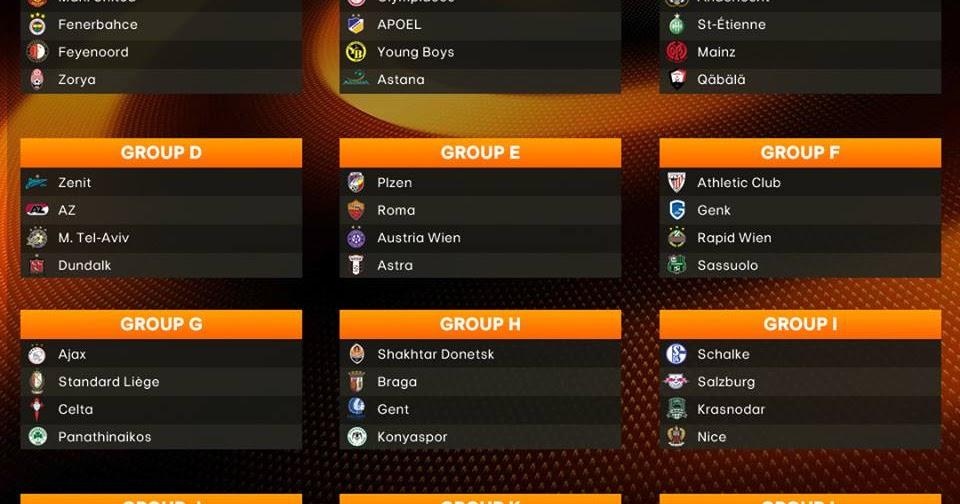 MVP Desportiva / LIGA EUROPA || Resultado do sorteio da ...