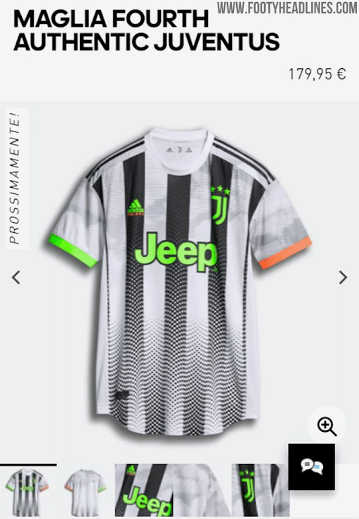 Retails At Insane 180 Euro Adidas Juventus Palace 19 20 Fourth Kit Waiting Room Release Footy Headlines