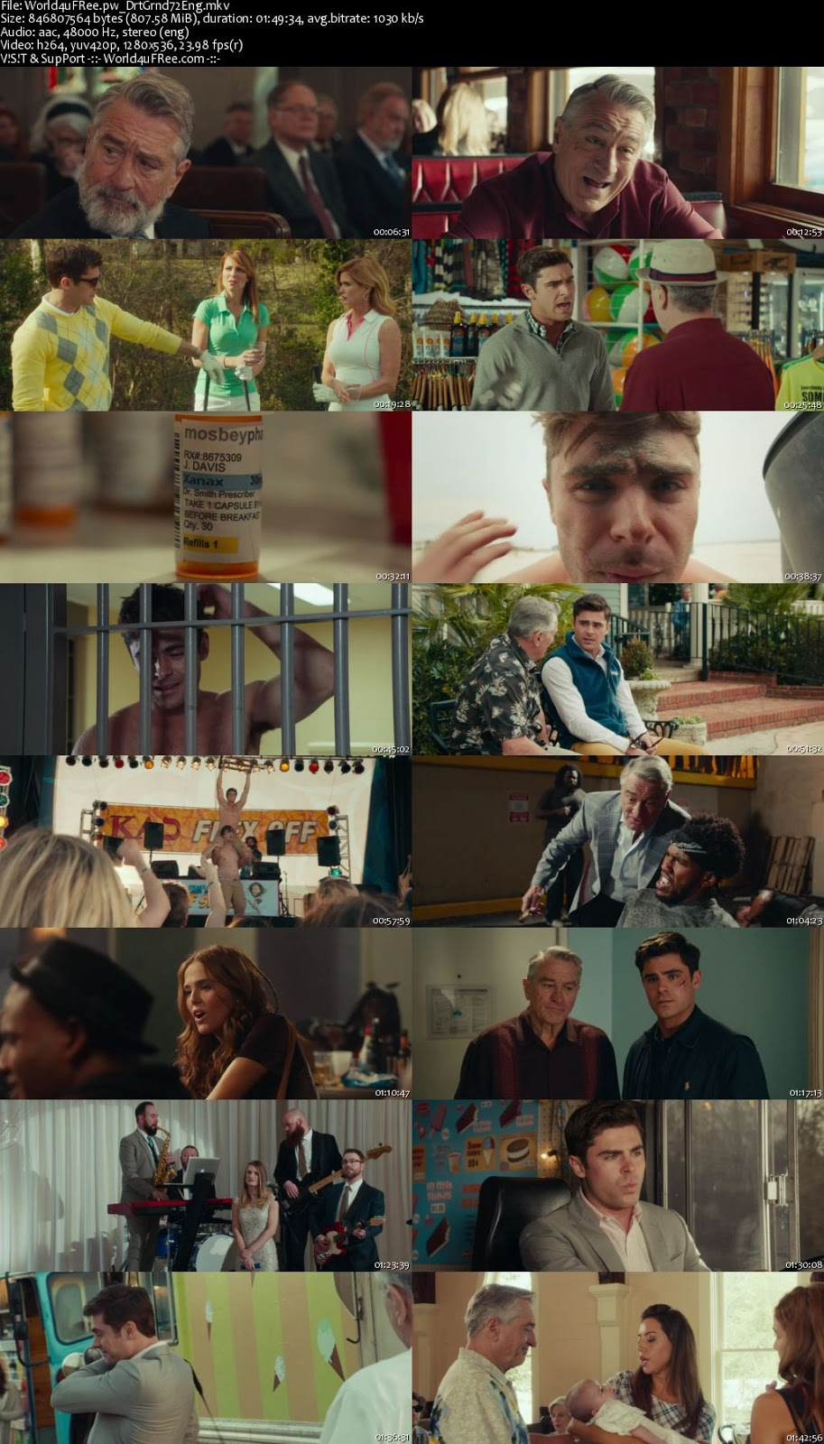 Dirty Grandpa (2016) English 480p BRRip 400Mb Download Full Movie