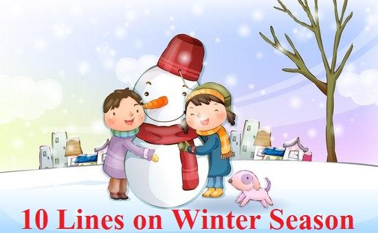 few lines on winter season