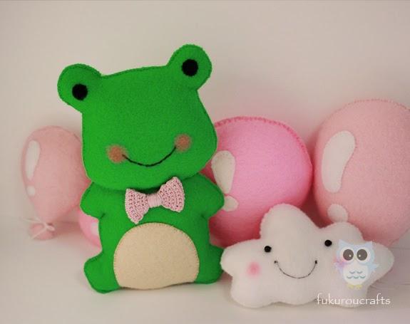 Cute Frog Felt Doll Christmas ornaments, handmade,  เครื่องประดับ, ตกแต่ง ต้น คริสมาสต์  ปีใหม่  ตุ๊กตา กบ เคโระ ผ้า สักหลาด น่ารัก