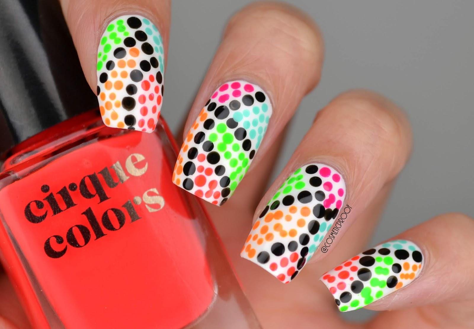 Nails The Neon Dotticure Cbbxmanimonday Cosmetic Proof