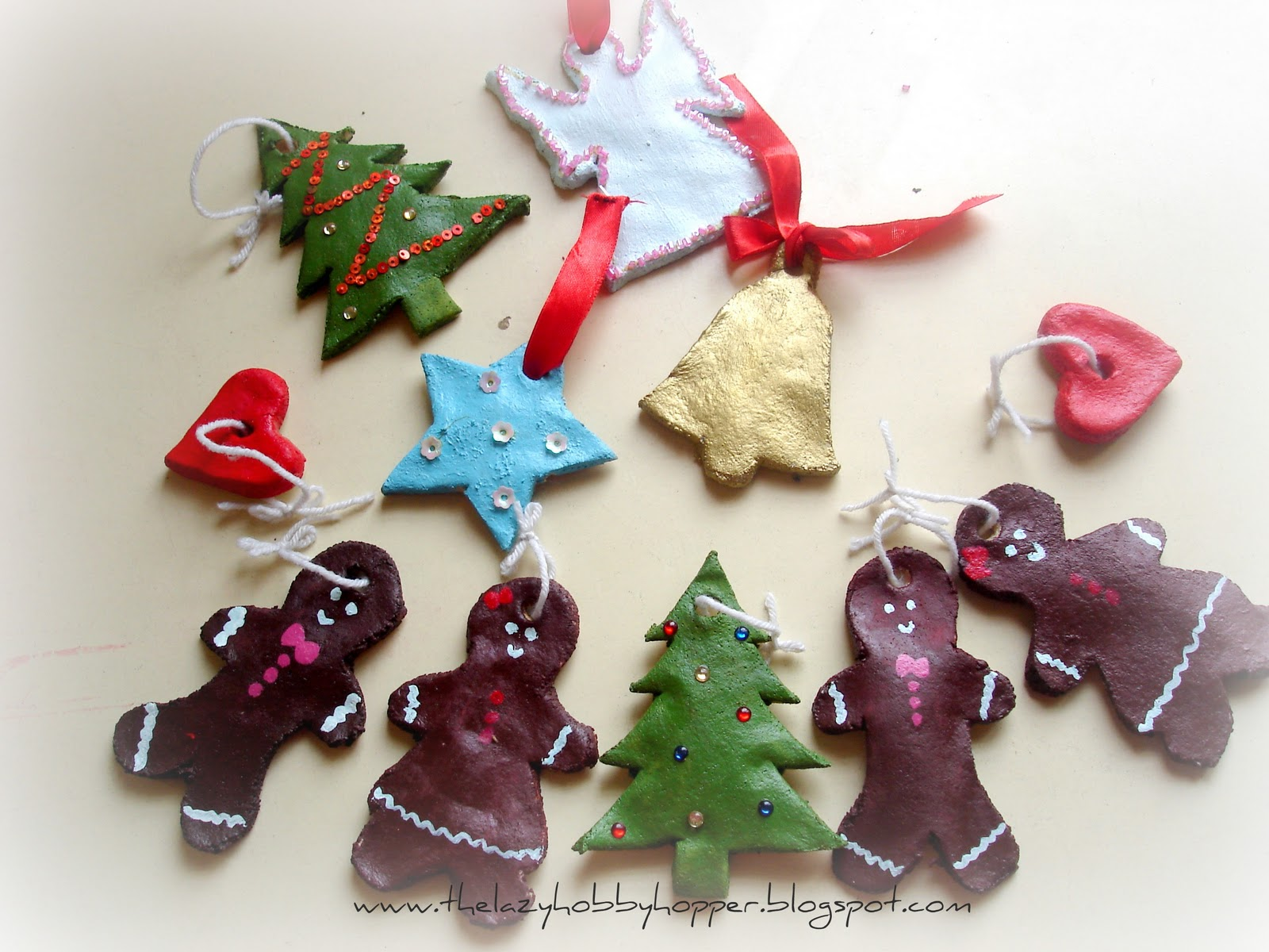 The Lazy Hobbyhopper Salt Dough Christmas Ornaments