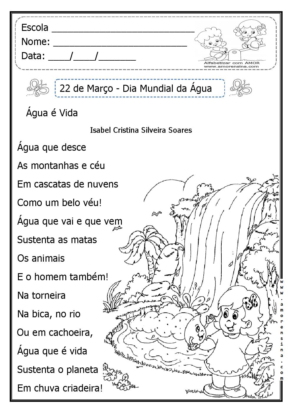 Muitas vezes Texto e Interpretação Interdisciplinar - Dia da Água — SÓ ESCOLA TU79