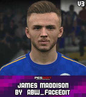 PES 2017 Faces James Maddison by ABW