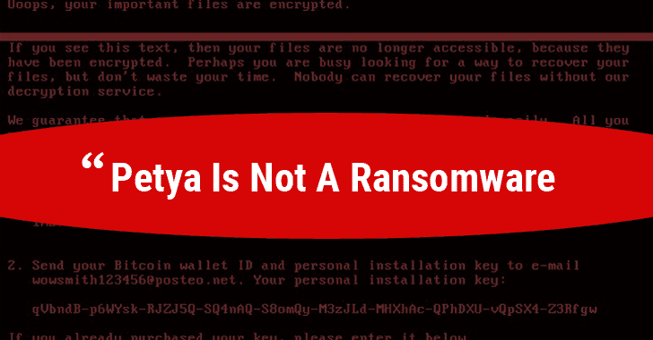 Turns Out New Petya is Not a Ransomware, It's a Destructive Wiper Malware