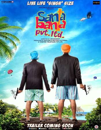 Poster Of Santa Banta Pvt Ltd 2016 Hindi 720p DVDRip ESubs Watch Online Free Download Worldfree4u