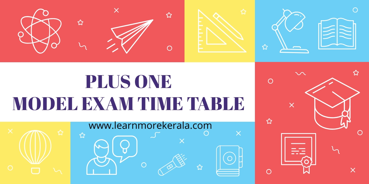 plus one model exam time table 2020