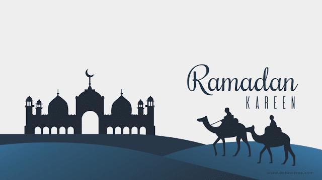 Spanduk Bulan Ramadhan Karim Format CDR