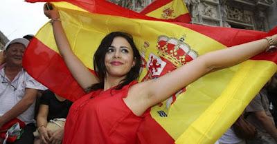 Supporter cewek cantik Spanyol EURO '16