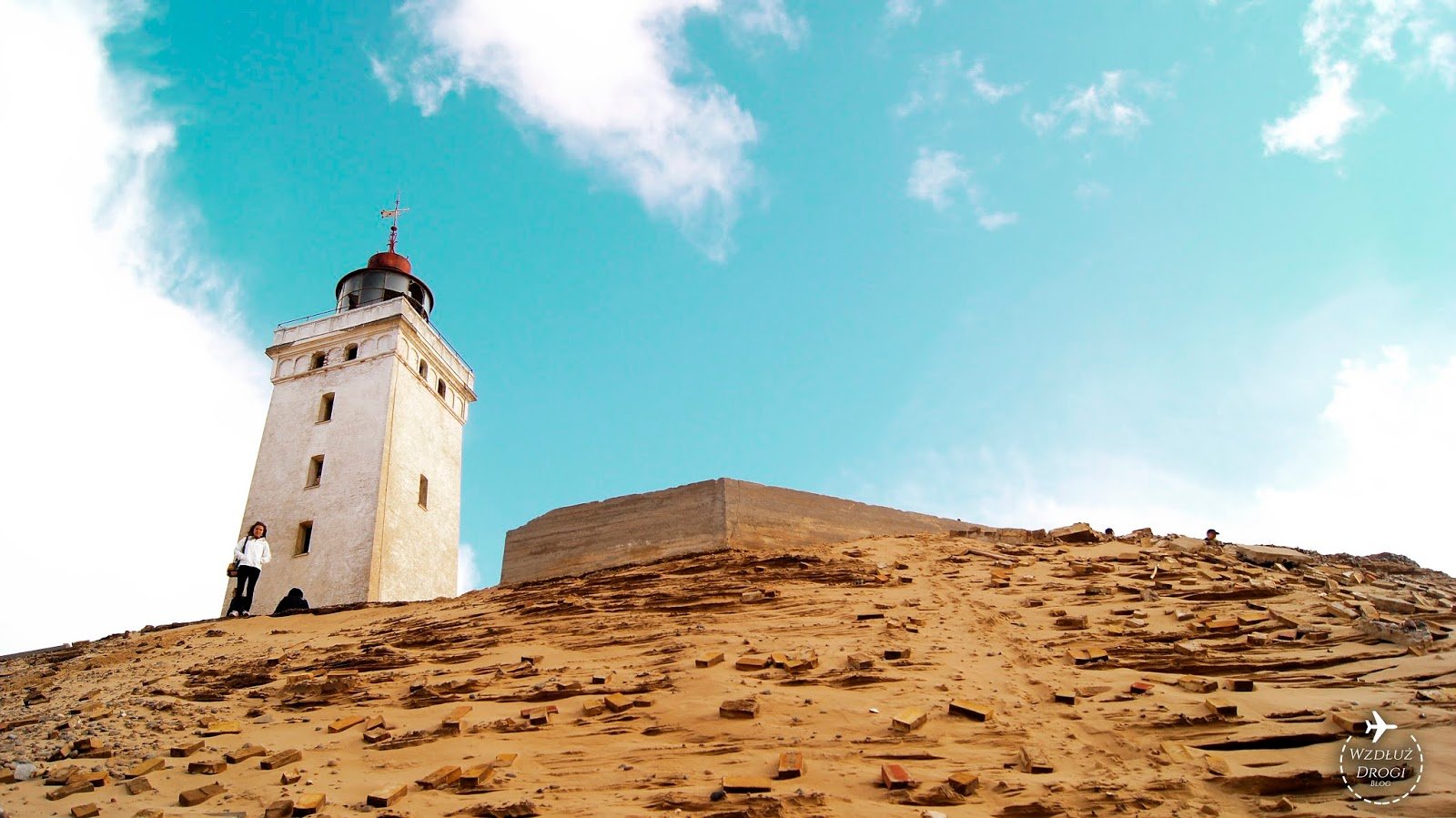 Zakopana w wydmie latarnia morska Rubjerg Knude Fyr