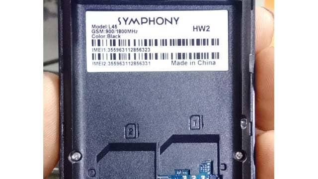 Symphony L45 HW2 Flash File Download