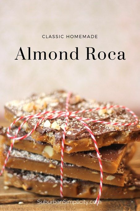 Are you looking for the best Almond Roca recipe? This is it! Perfect every time. The rich caramel covered with smooth chocolate and smashed almonds is delicious and contains no corn syrup.