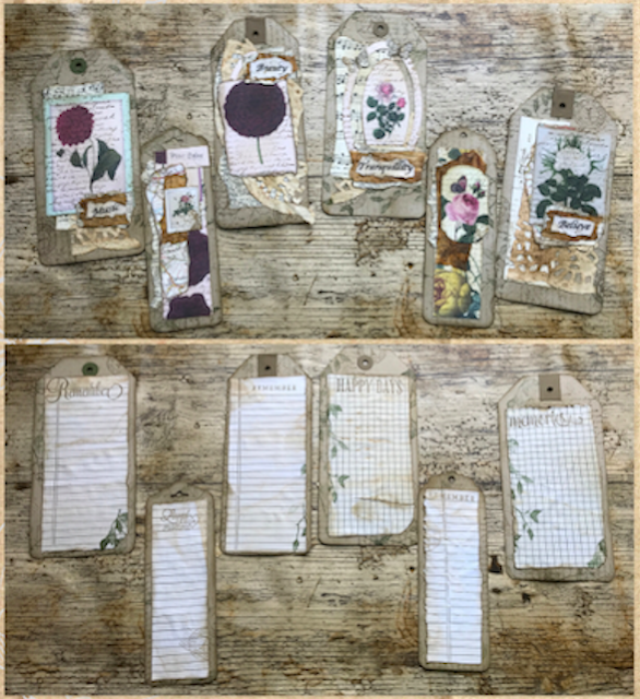 Nigezza Creates My First Junk Journal: Decorating Tags