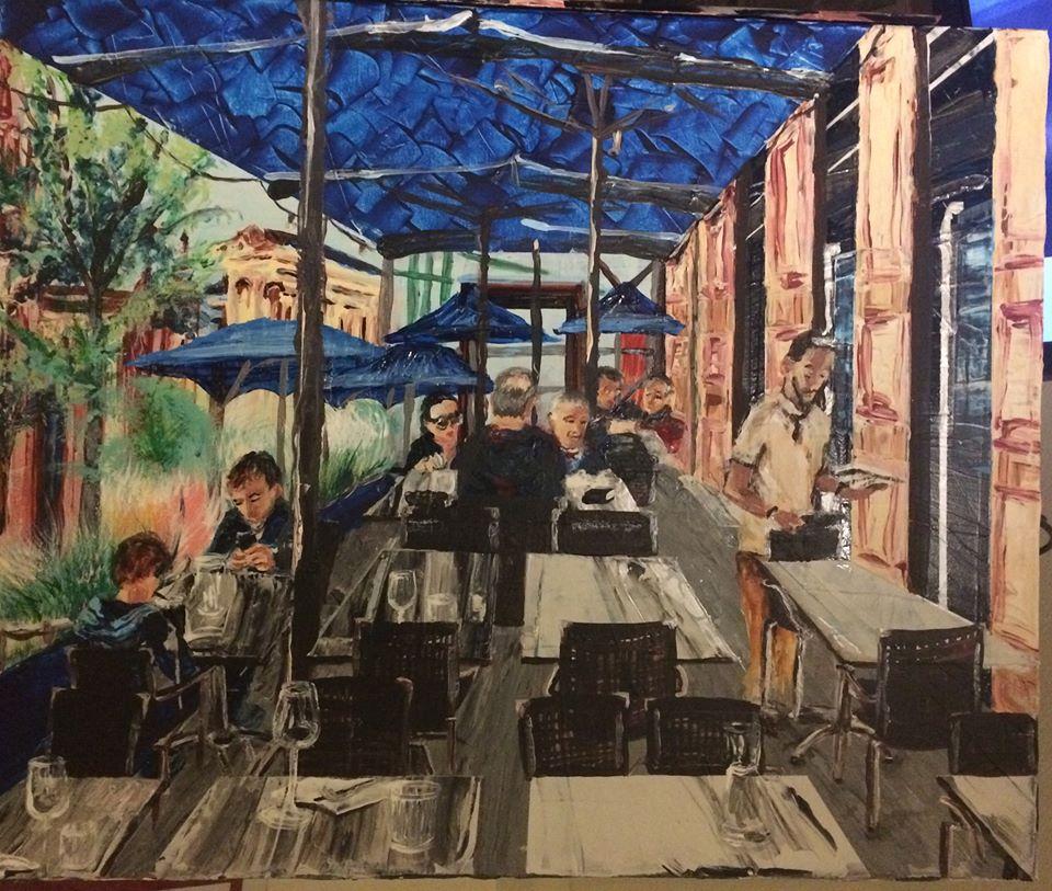 peinture le buffet de la gare à Agen