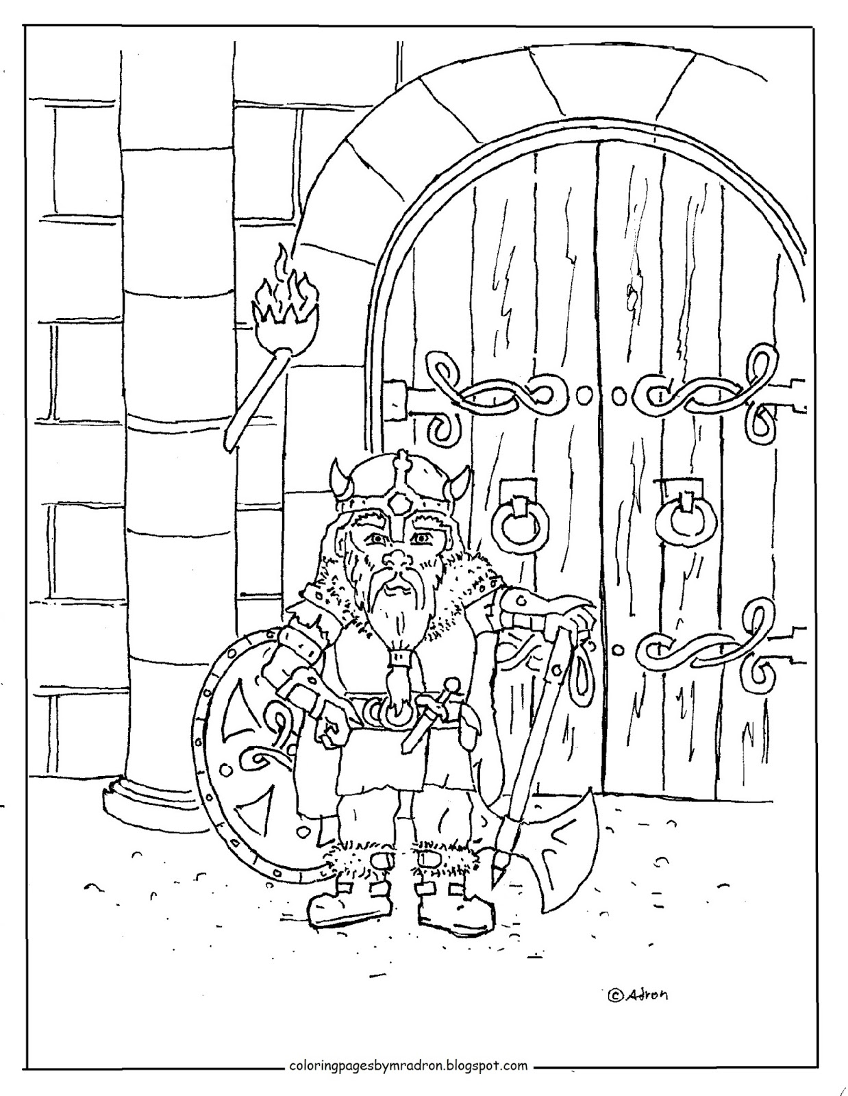 warrior coloring pages for kids | Coloring Pages for Kids by Mr. Adron: Printable Warrior ...