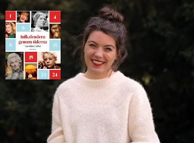 Caroline Cabot i halvbild med infällt bokomslag