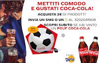 Logo Con Coca-Cola e Decò vinci 50 Pouf a forma di pallone da calcio