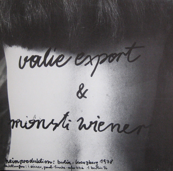 Artists Books And Multiples Valie Export Monsti Wiener Wahre