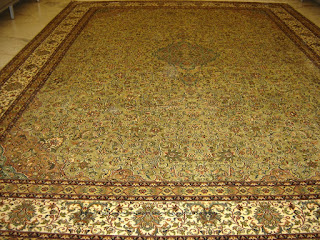 Silk carpets from Kashmir