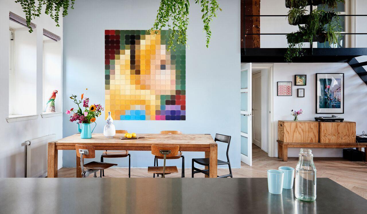 Dekoracja na ścianę rozmazany obraz