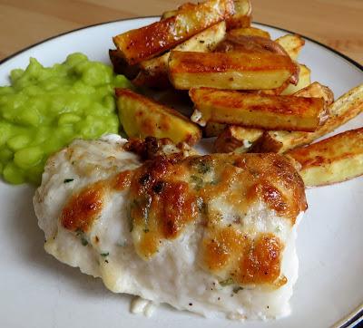 Garlic Herbed Cod & Chips