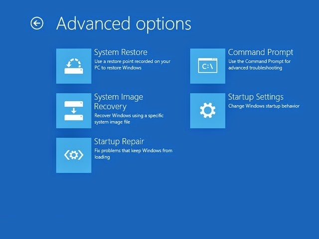 Cara boot ke advanced startup option di windows 8.1