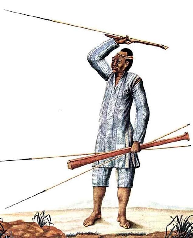 Ilustração de indivíduo da população indígena Omágua, atual Kambeba. Foto Alexandre Rodrigues Ferreira