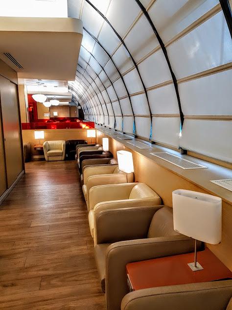 At the ALITALIA lounge 9f20610b87a