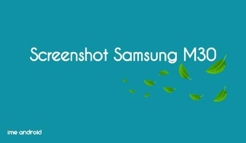 Screenshot Samsung m30 dengan mengusap layar