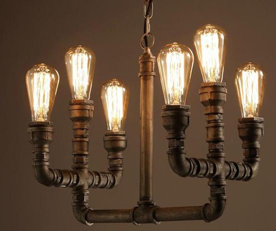 Desain lampu unik dari pipa bekas