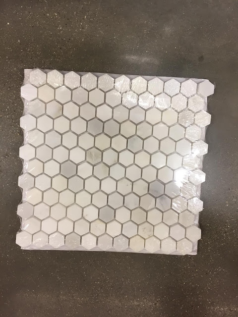 hexagon marble tiles