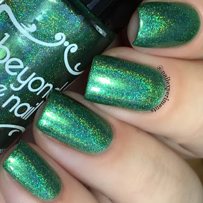 Beyond The Nail evergreen swatch