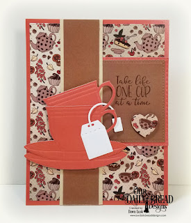 Our Daily Bread Designs Stamp/Die Duos: Hug in A Mug, Paper Collection: Latte Love, Custom Dies: Cups & Mugs, Pierced Rectangles, Double Stitched Rectangles