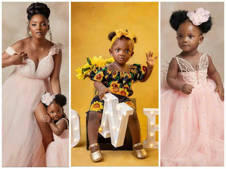 """""""Blessed Fruit Of My Womb & Drinker Of My Milk"""" - Simi Writes A Touching Note To Celebrate Her Daughter's First Birthday"""