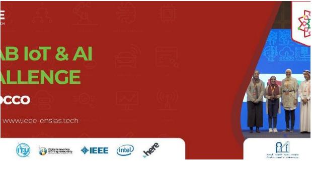 جامعة محمد الخامس في الرباط / القطعة العربية والتحدي: اليوم ، اختتام مراسم التحدي العربي لشبكة الإنترنت للأشياء (الكثير) والذكاء الاصطناعي (IA)