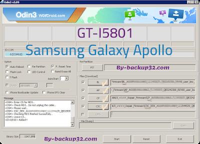 سوفت وير هاتف Samsung Galaxy Apollo موديل GT-I5801 روم الاصلاح 4 ملفات تحميل مباشر