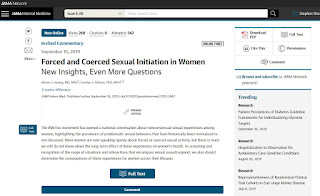 Forced and Coerced Sexual Initiation in WomenNew Insights, Even More Questions