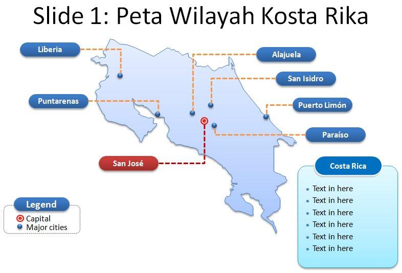 image: Slide 1 ppt peta kostarika