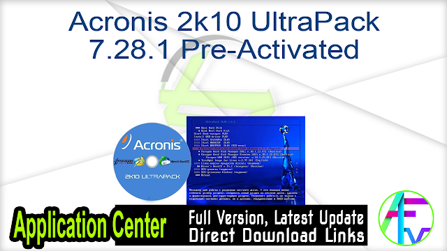 Acronis 2k10 UltraPack 7.28.1 Pre-Activated