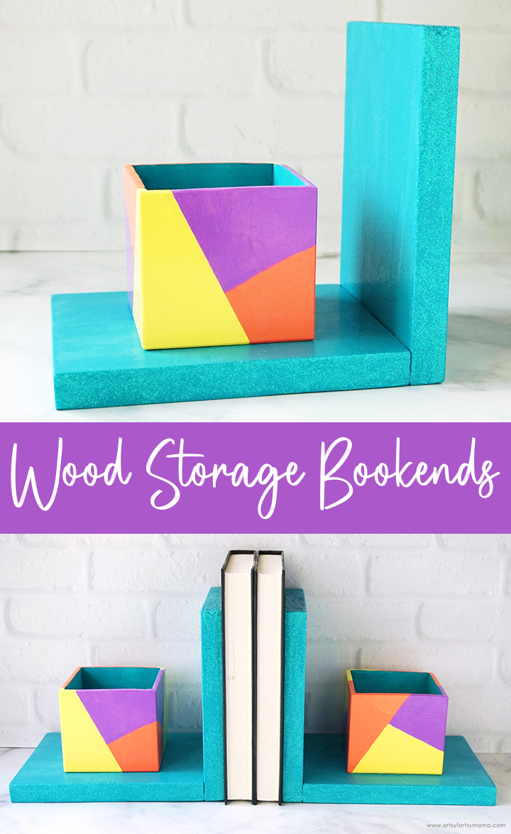 DIY Wood Storage Bookends