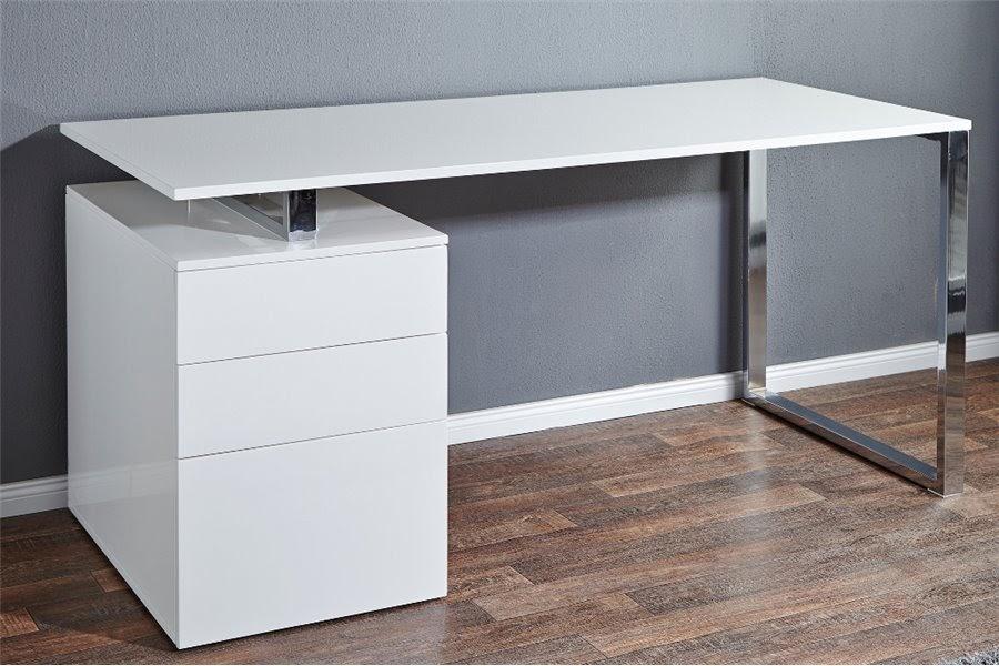 Bureau blanc laqué design sigma décoration sigma décoration