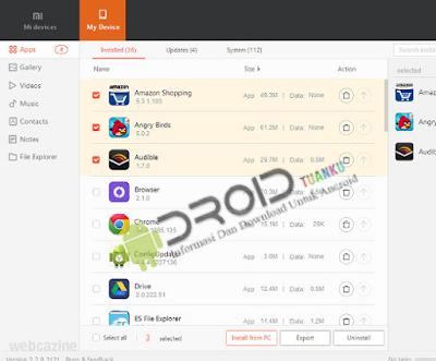 Cara Backup Data Ponsel Xiaomi dengan Mi PC Suite