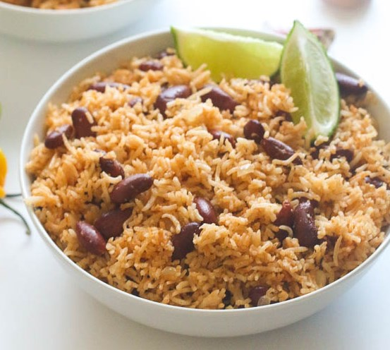 Caribbean Rice and Beans #vegetarian #dinner