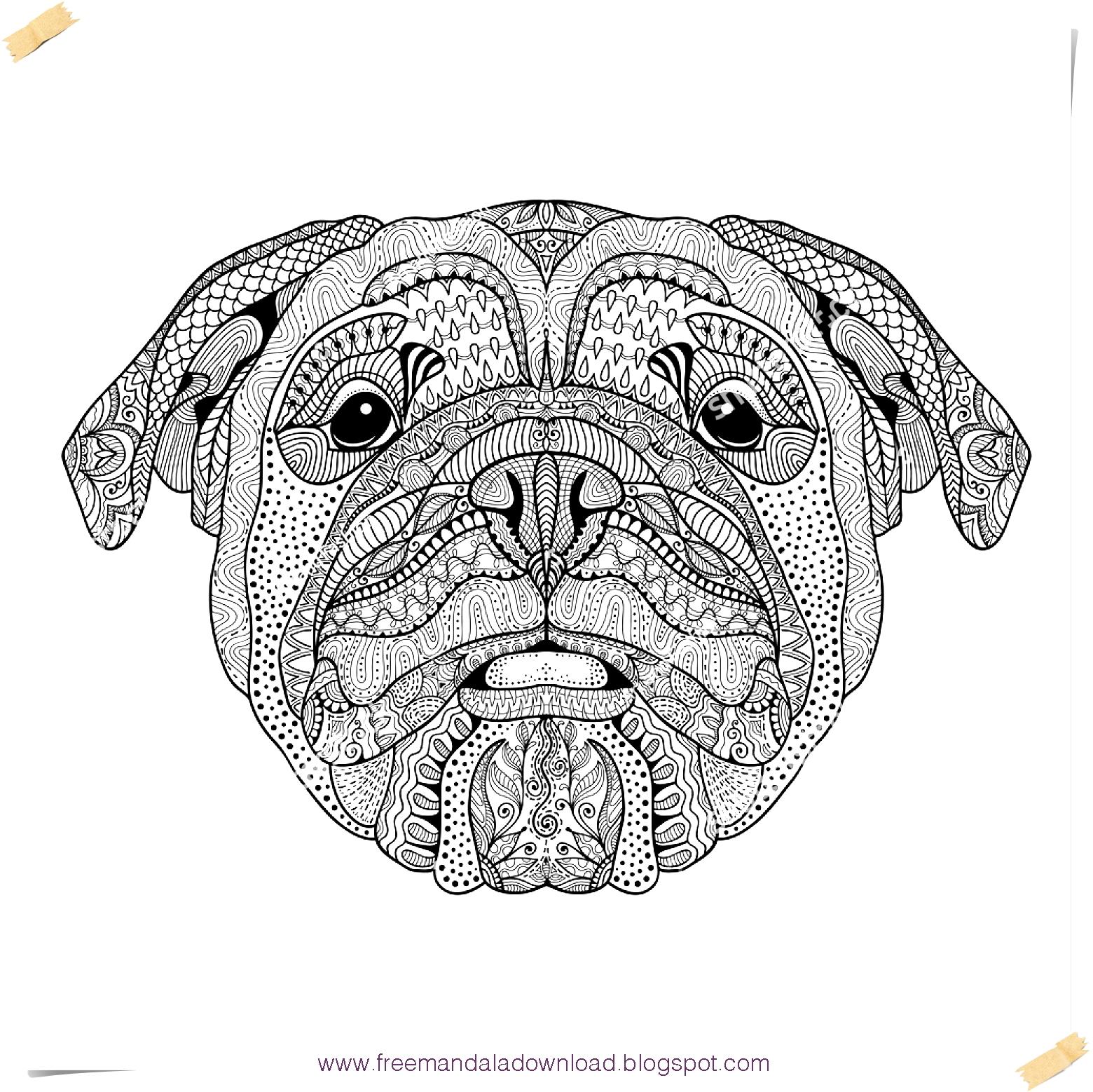 ausmalbilder hunde mandalas