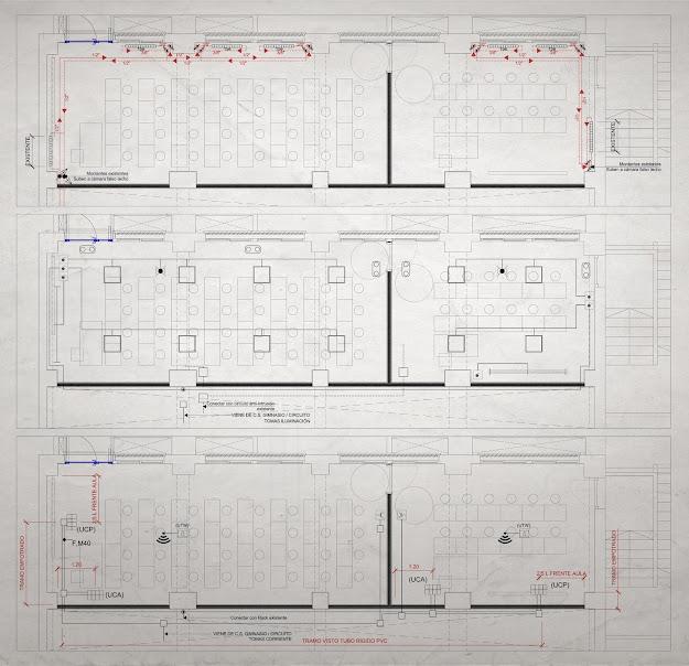 LACAL arquitectura. Arquitectos Granada. Javier Antonio Ros López, arquitecto. Daniel Cano Expósito, arquitecto. Instalaciones.