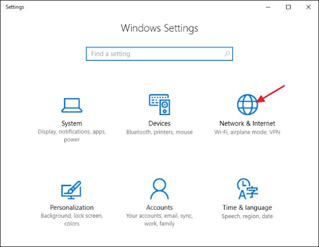 كيفية مشاركة الانترنت مع الأجهزة الاخري والهواتف في ويندوز 10