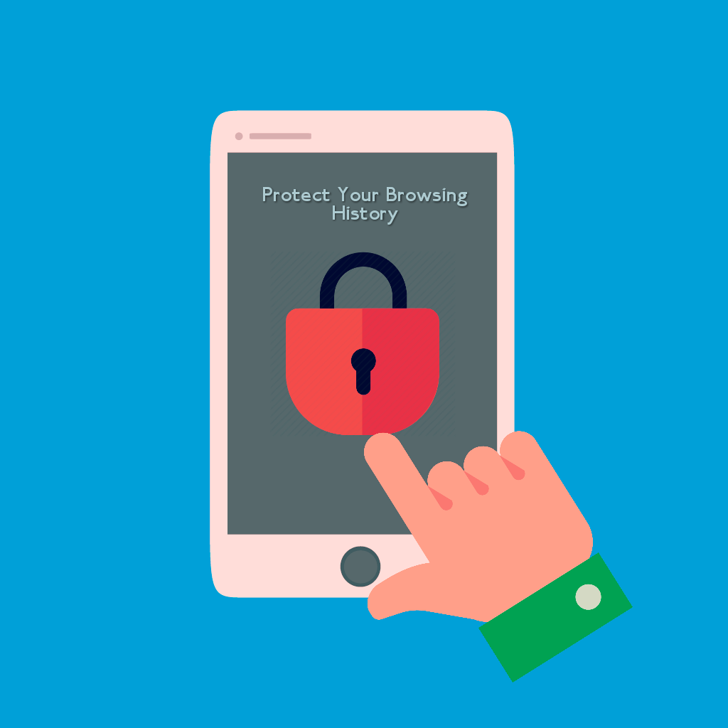 Protect private browsing with password in android